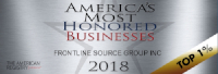 Frontline Source Group Temporary Staffing Agency Most Honored Staffing Agency 2018 Winner